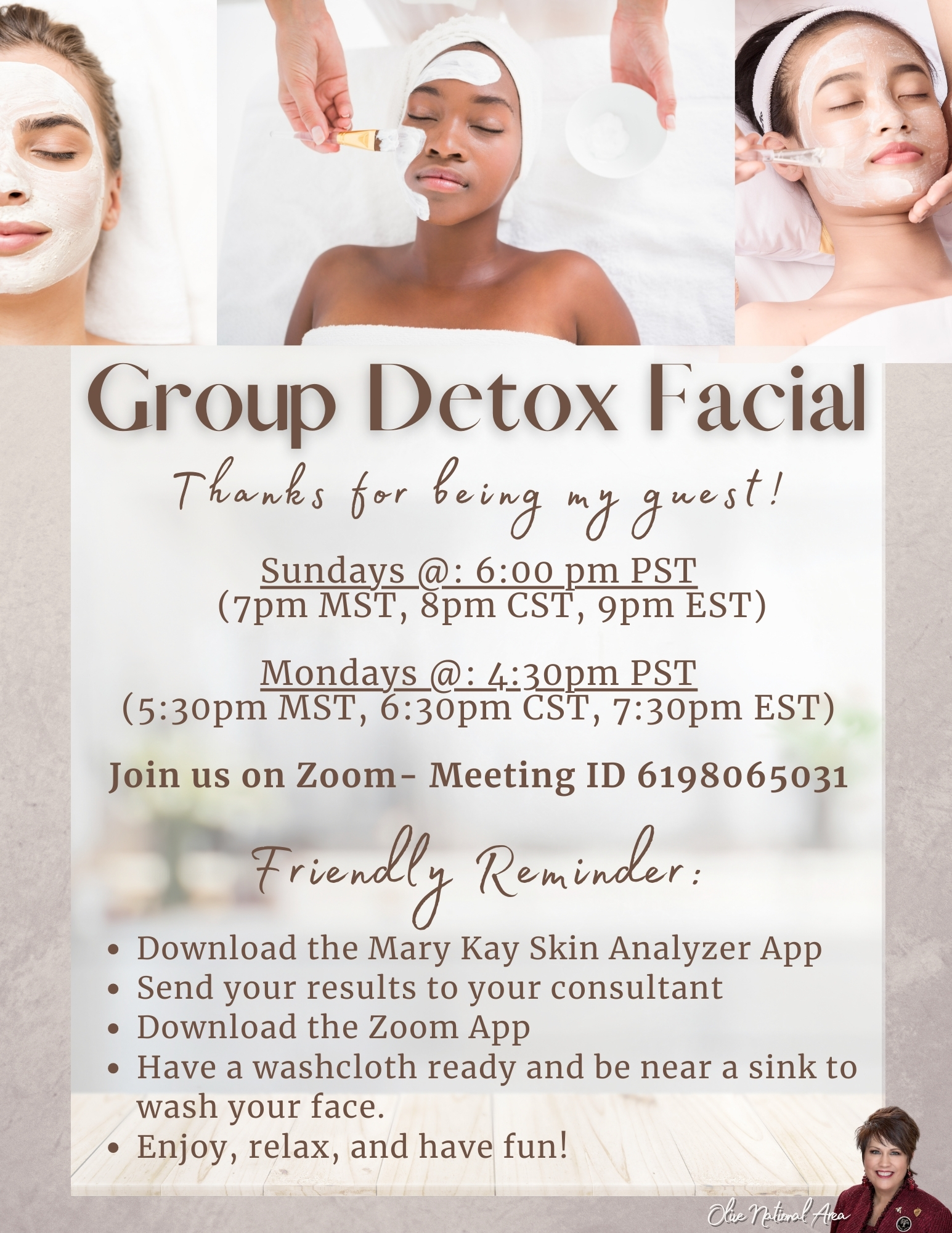 detox flyer guest with brand