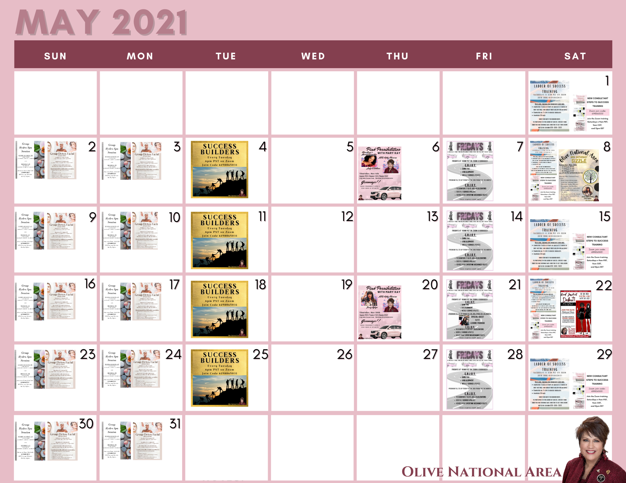 May 2021 flyer calendar