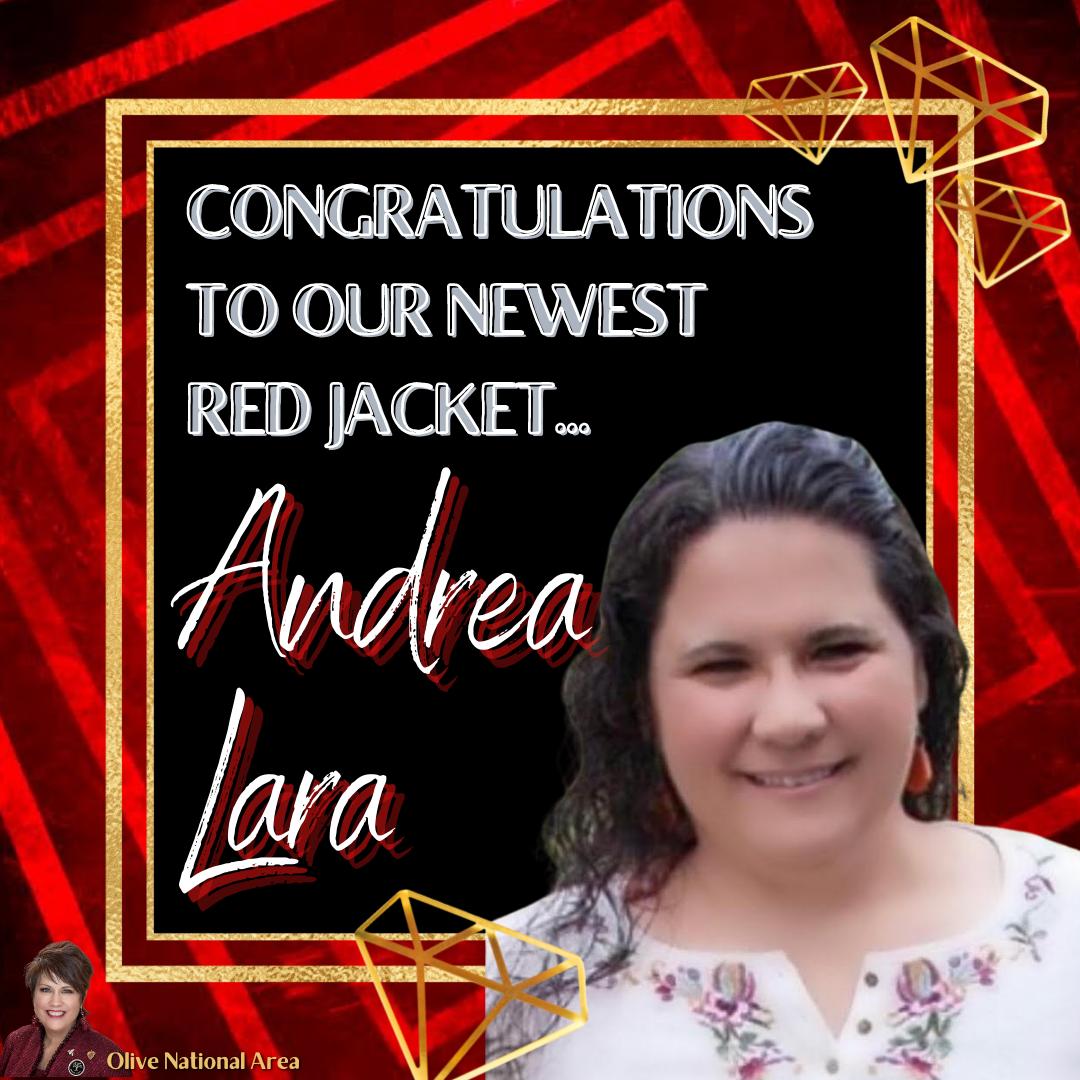 Andrea Lara red Jacket