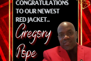 Greg Pope red Jacket