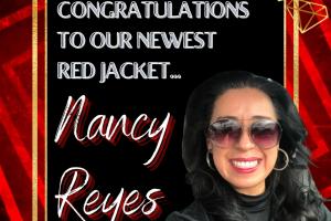 Nancy Reyes red jacket