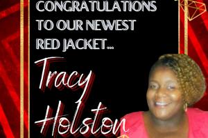 Red Jacket Tracy Holston