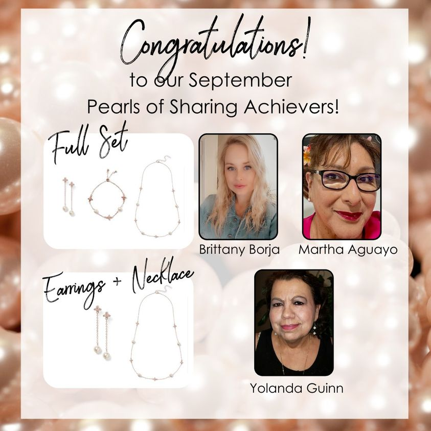 Pearls of Sharing Sept acheivers